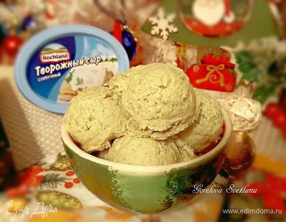 Творожно-цитрусовое мороженое с авокадо