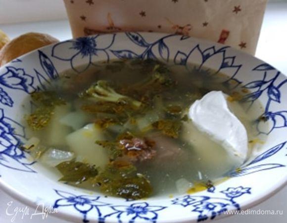 Суп со стручковой фасолью и брокколи