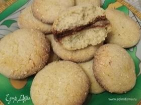 Печенье из манки с кунжутом