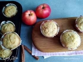 Яблочные маффины с рисовой мукой