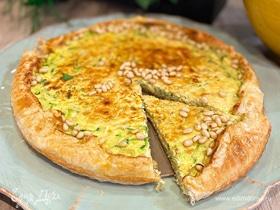 Открытый пирог с цукини и сыром