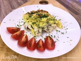 Вкусный минтай в духовке с картошкой