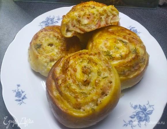 Синнабоны с ветчиной и сыром