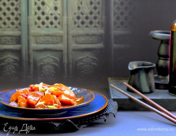 Баклажаны с картофелем в кисло-сладком соусе