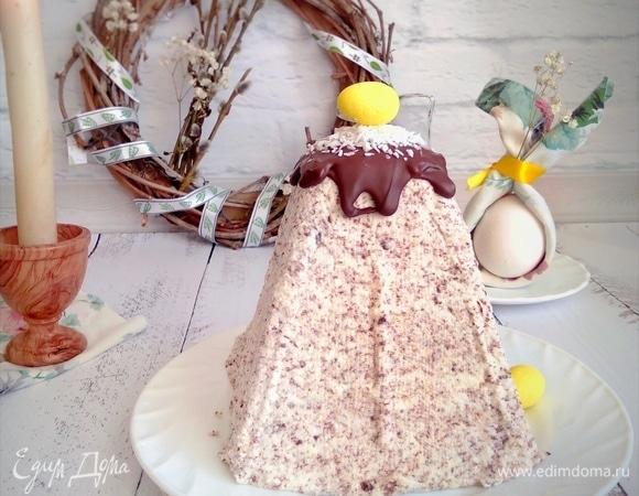 Творожная пасха с тертым шоколадом и кокосом