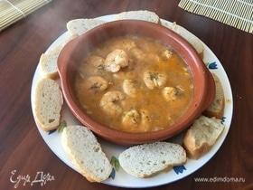 Креветки в соусе пиль-пиль (Gambas al pil pil)
