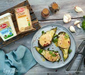 Баклажаны, запеченные с творогом и сыром