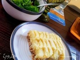 Английский пирог с индейкой и тыквой