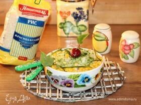 Салат с шампиньонами, рисом и кукурузой