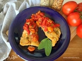 Филе трески с овощами