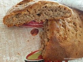 Цельнозерновой хлеб с ржаной мукой и овсяными хлопьями