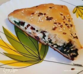 Осетинский пирог со свекольными листьями и адыгейским сыром