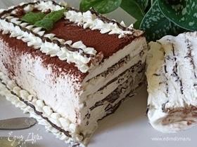 Торт-мороженое с шоколадом