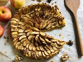 Пирог с яблоками на слоеном тесте