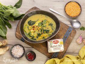 Чечевичный суп со шпинатом