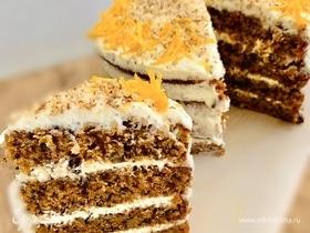 Морковный торт с кремом «Чиз»