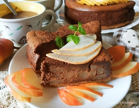 Шоколадно-грушевый чизкейк