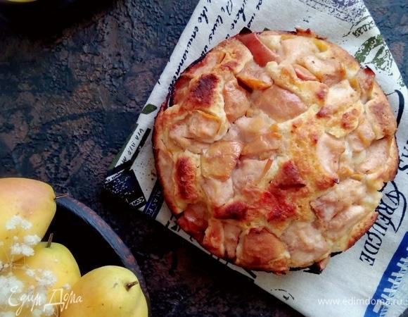Ароматный пирог с грушей