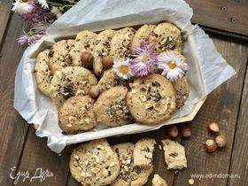 Печенье с фундуком и шоколадом
