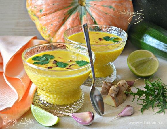 Тыквенно-кабачковый суп на кокосовом молоке