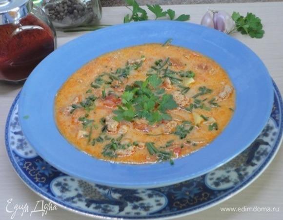 Суп из свинины с паприкой