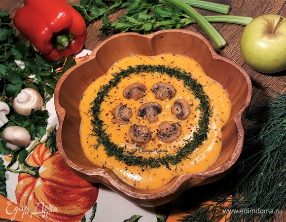 Суп-пюре из сезонных овощей