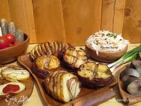 Картошка, запеченная с салом