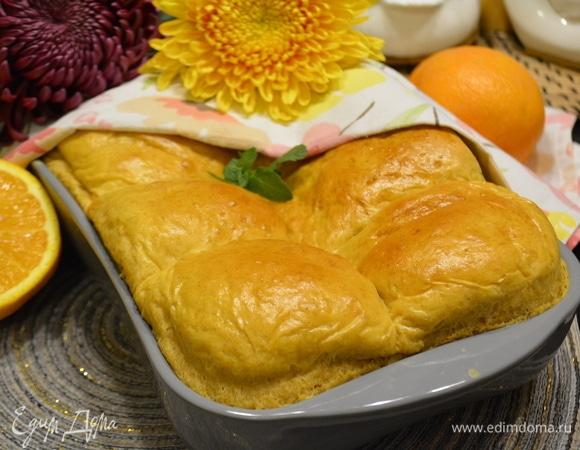 Тыквенные булочки с апельсиновым кремом