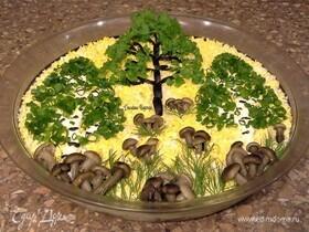 Теплый салат «Осенний лес»