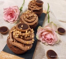 Шоколадные капкейки с пралине