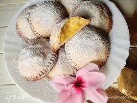 Печенье с заварным кремом и яблоками
