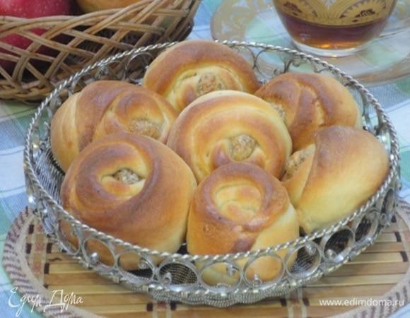 Орехово-сырные розочки