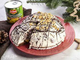 Торт «Панчо» с ананасами и грецкими орехами