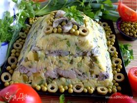 Террин картофельно-селедочный