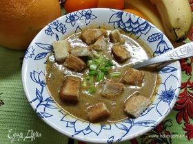 Суп-пюре из тыквы с вешенками