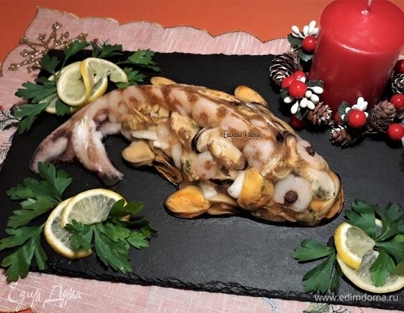 Заливное из морепродуктов «Чудо-юдо»