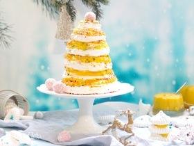 Торт-безе «Елка» с тропическим курдом