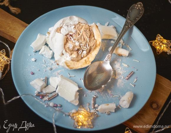 Пирожные-безе «Новогодние снежки»