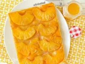 Перевернутый тарт татен с ананасами