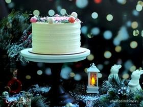 Торт «Клубника с маскарпоне»