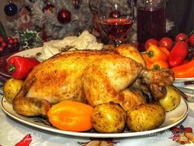Курица с черносливом и кедровыми орехами