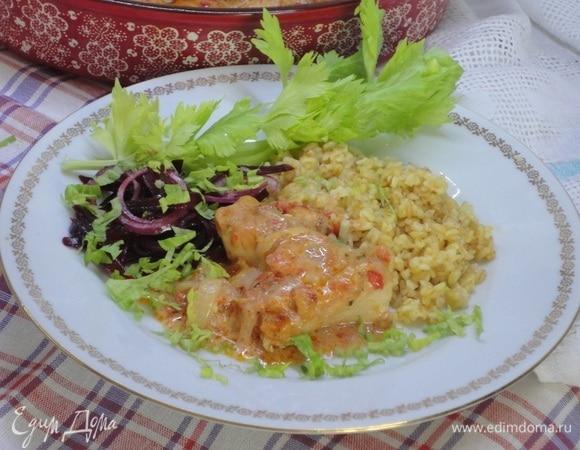 Курица в томатно-сливочном соусе