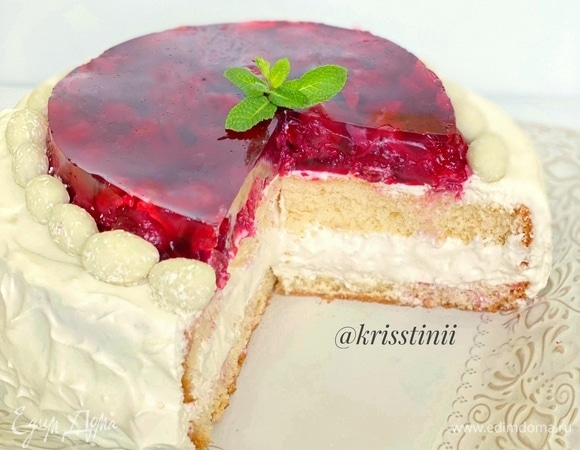 Торт «Вишневая нежность»
