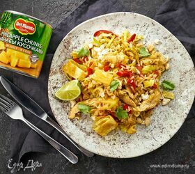 Рис с курицей и ананасами в тайском стиле