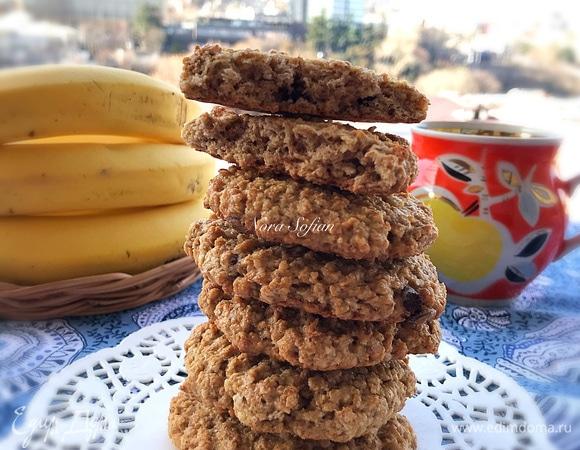 Овсяное печенье на яблочном пюре