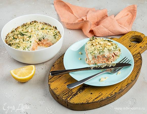 «Рис» из цветной капусты с лососем