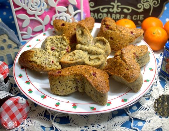 Овсяные кексы с маком и брусникой