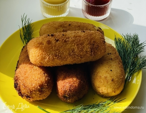 Картофельные крокеты с печенью трески