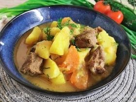 Жаркое из говядины и овощей