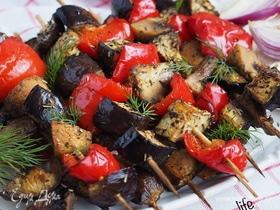 Шашлычки из овощей в духовке